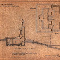 plan si sectiune ale mausoleului, sursa Arhiva DMI
